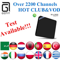 Indio IPTV MINI M8S OTT Caja de la TV Inteligente con 2200 + Pakistán albania Alemania UK Sport Isreal Grecia Portugal Rumania Android tv caja