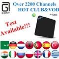 Indio IPTV MINI M8S OTT Caja de la TV Inteligente con 2200 + Pakistán albania Alemania UK Sport Isreal Grecia Portugal Rumania Android tv caja