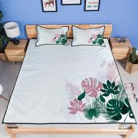 folding air conditioning mat Summer mat Printed ice silk cartoon three piece / two sets Home textile products Tropical plant mat