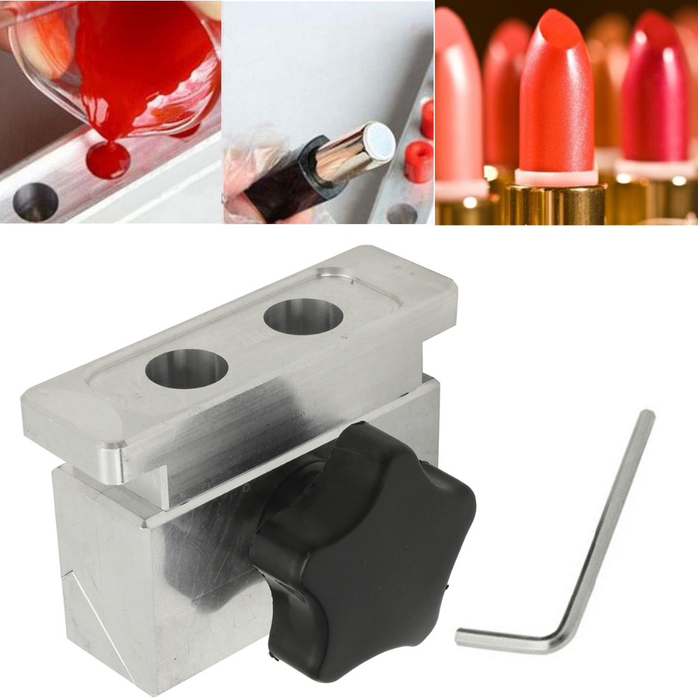 1pc 12mm 2 Cavities Hole Lipstick Fill DIY Mold Aluminum Alloy Eagle Mouth Shape Mold For Lipstick Filling plastic injection mold for car monitor shell in 2 cavities