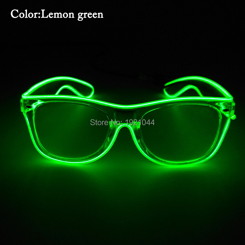 30 шт. EL Провода светящиеся Очки мигание Очки с dc-3v устойчивый на драйвер составляют партии Glow Очки для праздника DIY Декор