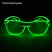 30pcs EL Wire Glowing Glasses Blinking Glasses With DC 3V Steady On Driver Make Up Party