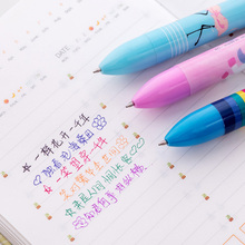 1PCS 6 color Cute Kawaii unicorn Ballpoint Pens Ballpen For Office School Writing Supplies Stationery