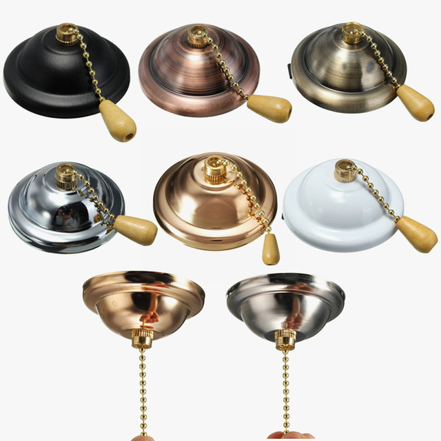 Universal Ceiling Pendant Fan Wall Light Pull Chain Switch Socket Lamp  Holder 3A AC125 250V
