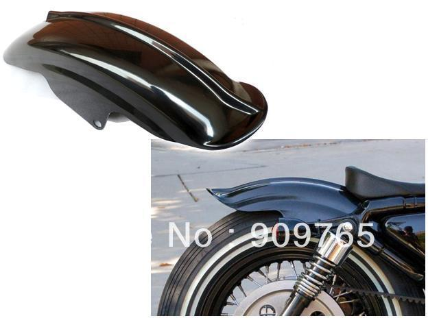 Free Shipping 1Pcs Black Rear Fender for Harley Sportster XL Solo Cafe Racer Bobber Chopper XLH1200 883 Custom 1200 Sport Hugger 22 bobber cafe oldschool chopper