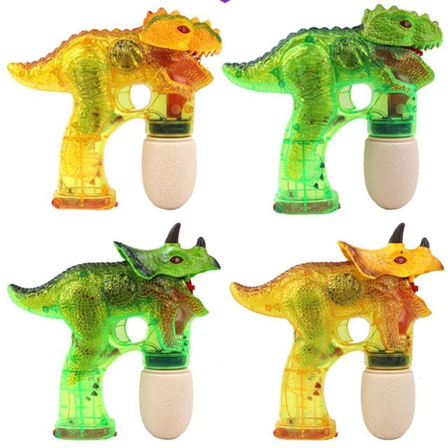LeadingStar Children Dinosaur Bubble Maker Electric Bubble Gun with Music Light as Perfect Gift for Kids 2