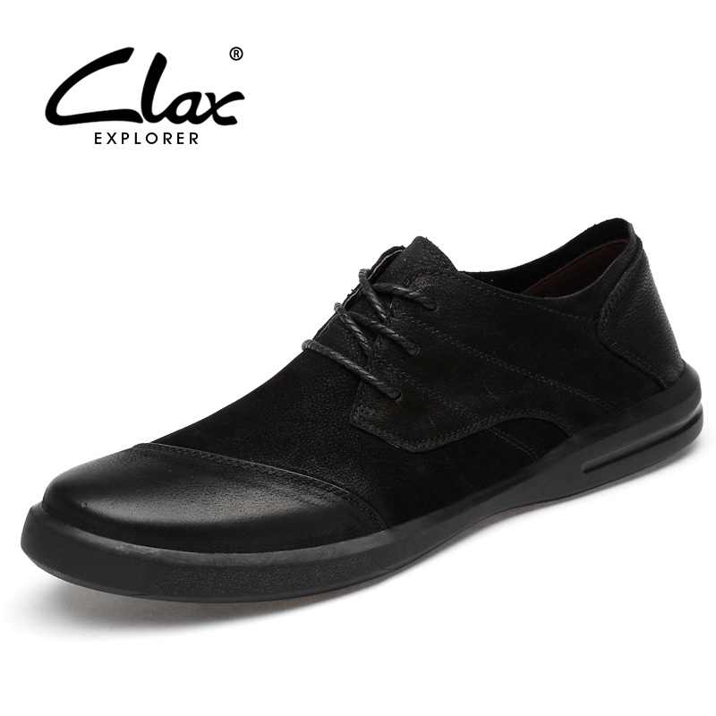 CLAX Man Shoe Genuine Leather Male Casual Shoes Designer Men's Walking Footwear Handmade Chaussure Homme