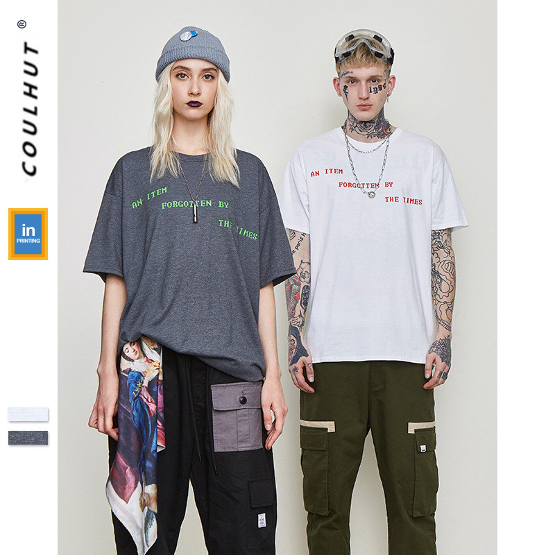 2019 SS Skateboard Personality CD Print Cotton T Shirts Summer Urban Streetwear Short Sleeve Couple Tees Harajuku Clothing Tops