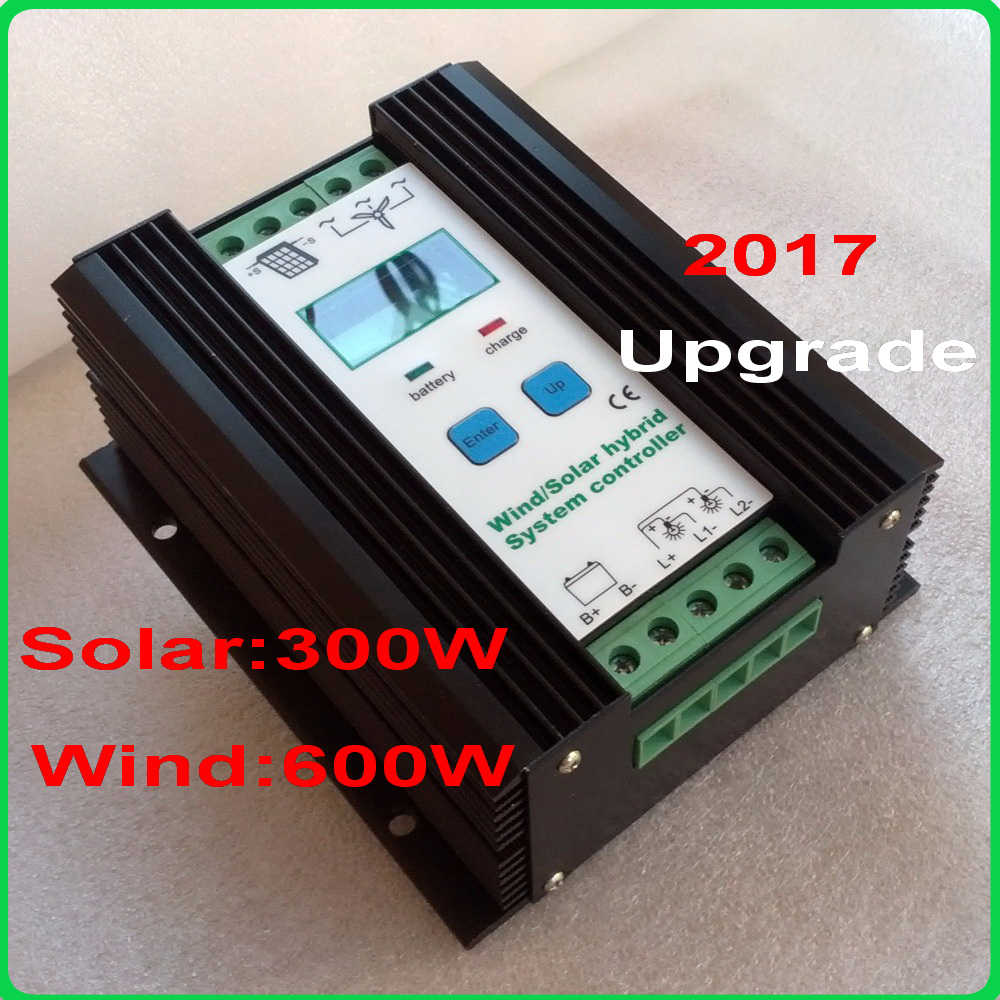 900W MPPT Wind Solar Hybrid Controller 12V 24V for 600W Wind+300W Solar with Anti charging and Battery Reverse Protection