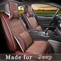 De Cuero de verano cubierta de asiento de coche para Jeep Grand Cherokee Wrangler Brújula Patriot Comandante Renegado 5 Asientos Cojín proteger 0405