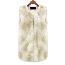 Winter Jacket Women Sleeveless Fur Jackets Slimming Feather Furry Faux Fur Gilet Coat Fashion Faux Fur Vest Coats Waistcoat