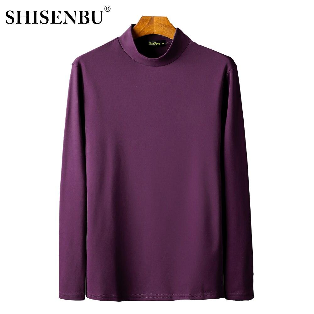 Male Underwear Shirt High Neck Winter Bodysuit Mens Warm Clothes Thermal Undershirts Thick Basic Tops Cotton Undershirt Tshirt (4)