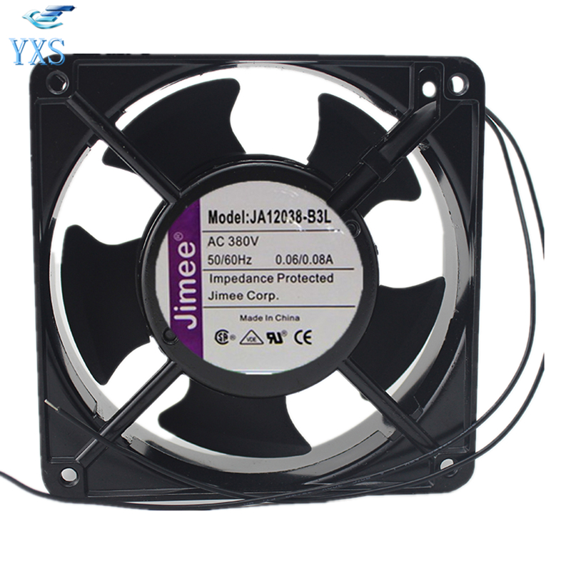 JA12038-B3L AC 380V 0.06A/0.08A 120*120*38mm 12038 12cm 50/60HZ Axial Cooling Fan sunon free shipping new original taiwan blower fan dp200a p n2123hsl 1238 12cm 12038 120 120 38mm 220v wire type