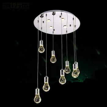 Creativo Moda Moderna Romantica Waterdrop Bolla di Cristallo Luce Del Pendente Del Led Per Scale Sala da pranzo Soggiorno 1083