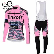 2016 women s jersey team tinkoff saxo bank pink cycling jersey long sleeve quick dry cloth
