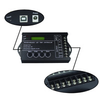 Free Shipping Programable RGB Time LED Controller Dimmer TC420 DC12V 24V 5Channel Total Output 20A Common