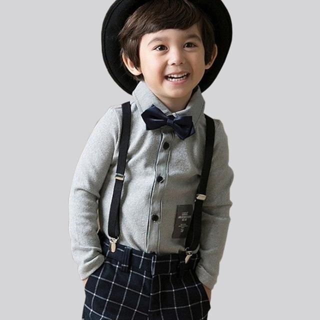 Envío de la gota niños ropa caliente de la felpa lining conjuntos niños niños trajes de boda formal tops + pants + bow tie + liga