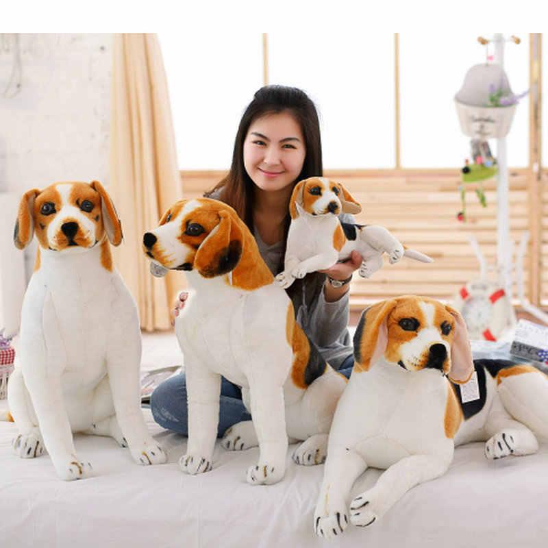 ยักษ์ใหญ่ขนาด Beagle Dog ของเล่นที่สมจริงตุ๊กตาสัตว์ของเล่นตุ๊กตาของเล่นของขวัญเด็กตกแต่งบ้าน Pet Store Prmotion mascot