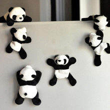 1Pc Cute Soft Plush Panda Fridge Magnet Refrigerator Sticker Cartoons Decal Gift Souvenir Home Decor Kitchen Accessories New L*5(China)