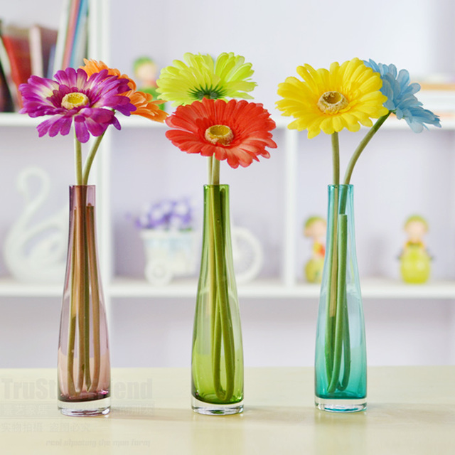 Cheap Exquisite Small Glass Flower Receptacle Personal Home