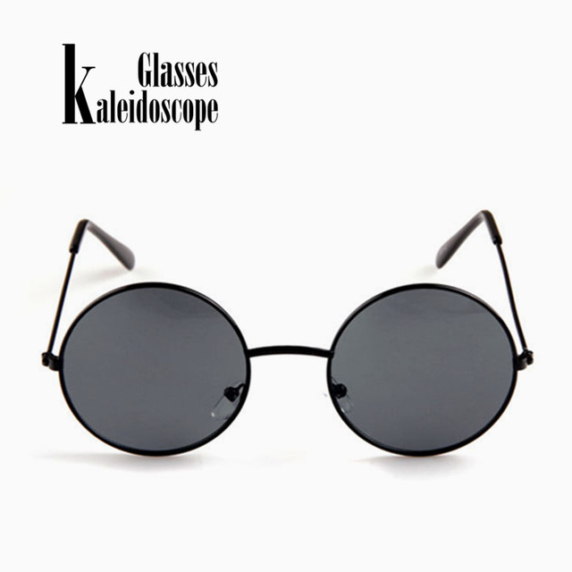 49011a40ba Kaleidoscope Glasses Women Men Sunglasses Round Metal Frame Brand Designer  Mirrored Eyewears Retro Females Male Sun Glasses