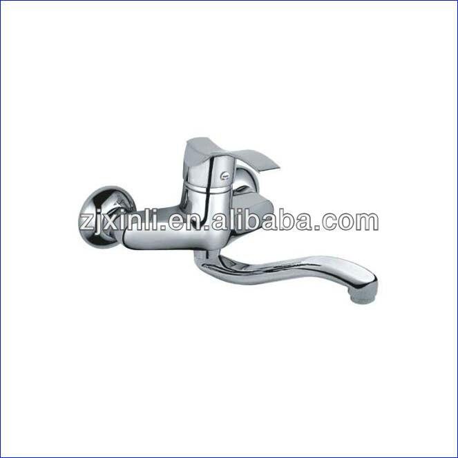 Wholesale Luxury Brass Kitchen Tap Deck Monted Kitchen Mixer Chrome Finish Kitchen Faucet 10 PCS Lot