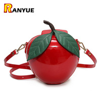 Christmas Gift Red Apple Bag Pu Leather Mini Women Messenger Bags Handbags Famous Brand Shoulder Bags