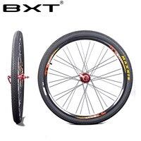 2018 BXT Mountain Bike 26er 27.5er 29er Through Axles Front 100*15mm Rear 142*12mm Disc Brake Wheels Clincher Rim MTB Wheelset