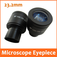 WF10X Field of View 20mm High Eyepoint and Wide Angle School Biological Microscope Eyepiece Lens with Mounting Size 23.2mm