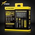 Marca Nitecore D4 Digicharger LCD Circuito Inteligente li-ion Mundial de Seguros 18650 14500 16340 26650 Cargador de Batería