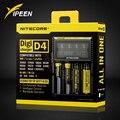 Marca Nitecore D4 Digicharger LCD Seguro Global de Circuito Inteligente de iões de lítio 18650 14500 16340 26650 Carregador de Bateria