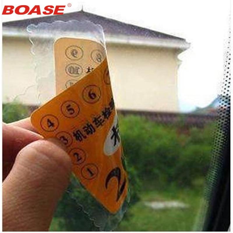 12 шт./лот Автомобильная Электростатическая наклейка, наклейка на лобовое стекло, наклейка для проверки лицензии, разрешения на получение на...