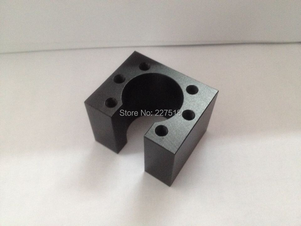1 pc HD16 SFU1605 ball screw nut housing black aluminium for 1605 16mm ball screw nut housing bracket holder CNC parts