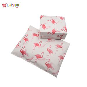 Image 2 - 50pcs 25.5*33cm 10*13 inch Fashion Pink Flamingo pattern Poly Mailers Self Seal Plastic mailing Envelope Bags