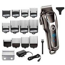 Maquinilla de cortar el pelo para hombre, cortador eléctrico profesional ajustable, Máquina para cortar Cabello, sin cable