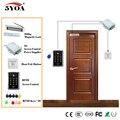 Vasos De Madera Puerta RFID Kit Sistema de Control de Acceso Set + Keytab Eletric Cerradura Magnética + Tarjeta de IDENTIFICACIÓN + Power Supplier + Botón de salida + Timbre