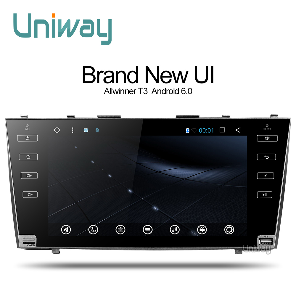 uniway 2g16g 2 din android car dvd gps player for toyota