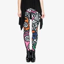 2d85a160ad781 Fashion High Elasticity Legging Tribe Totem 3D Printing Women legins  Stretchy Trousers Slim Fit Pants Leggings