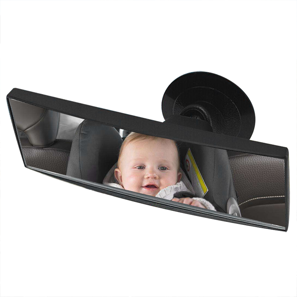 CARGOOL Baby Car Interior Mirror Shatter-proof Safety Car Seat Mirror Rear View Baby Mirror with Suction Cup Black