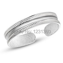 2014 New Arrival,Free shipping S999 classic bracelet silver jewelry bracelet for couple