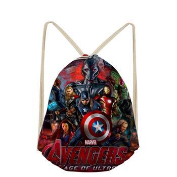347328c71b0 Las mujeres los Vengadores Iron Man Hulk dibujos animados guerra bolsos  ocasionales del lazo lindo mochila bolsillo bolsa saco plage