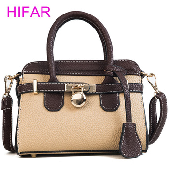 Women Portable bag Hit Color Lichee Pattern Handbags Lock Tote Shoulder Bags Designer Brand High Quality Women Crossbody Bags