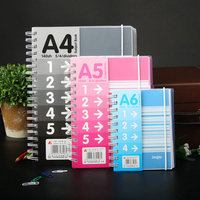 Korean Cute Double Coil Creative Notebook Paper Diary A6 A5 A4 School Spiral Notebook Notepad Office