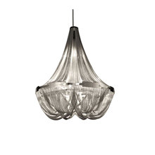 Nordic postmodern simplicity Chandelier Aluminum chain chandelier Iron Creative Living Room Home Indoor Dining Lighting