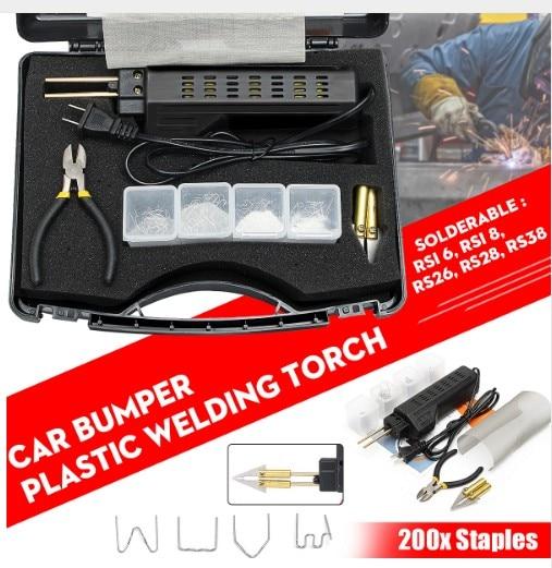 200 Staples Sweet-Tempered New 220-250v Hot Stapler Car Bumper Plastic Welding Torch Fairing Auto Body Tool Welder Machine 0.6/0.8mm Plastic Welders