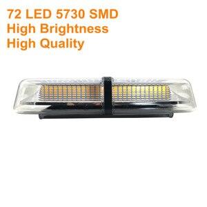Image 3 - 12V/24V 5730SMD 72 LED רכב גג Strobe חירום אור רכב חילוץ אמבולנס משטרת צהוב מהבהב אזהרה מנורת משואה