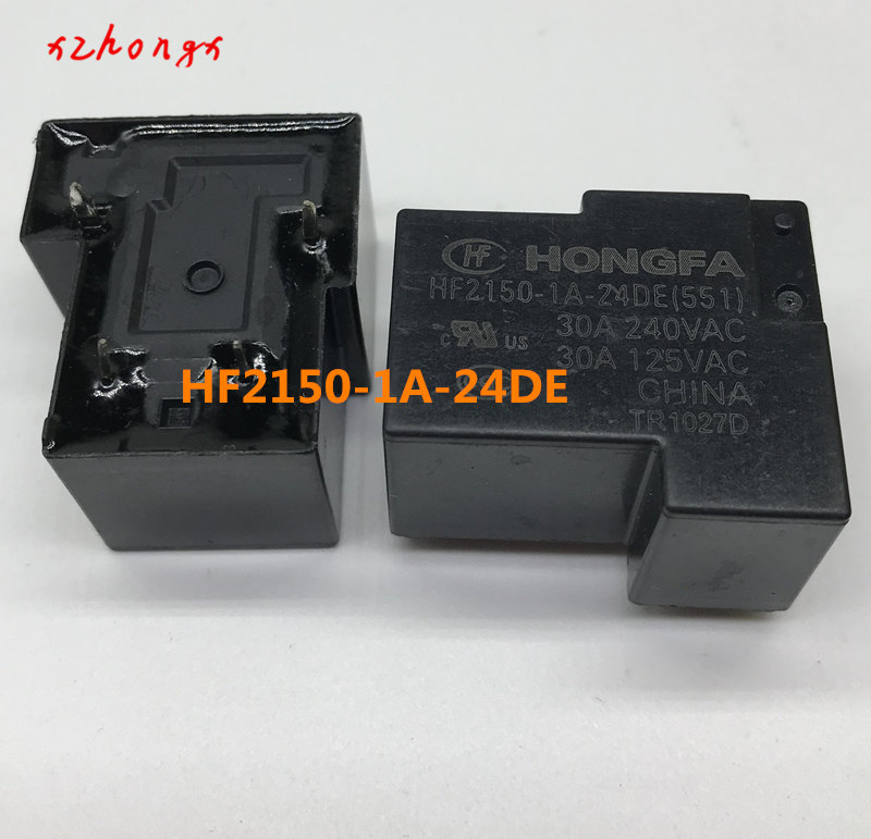 (2pieces/lot) 100%Original New HONGFA HF HF2150-1A-12DE 12VDC HF2150-1A-24DE 24VDC 4PINS 30A Power Relay