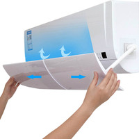 Anti Direct Blowing Retractable Air Conditioner Shield Cold Air Conditioner Wind Deflector Baffle XH8Z Air Conditioner Covers     -