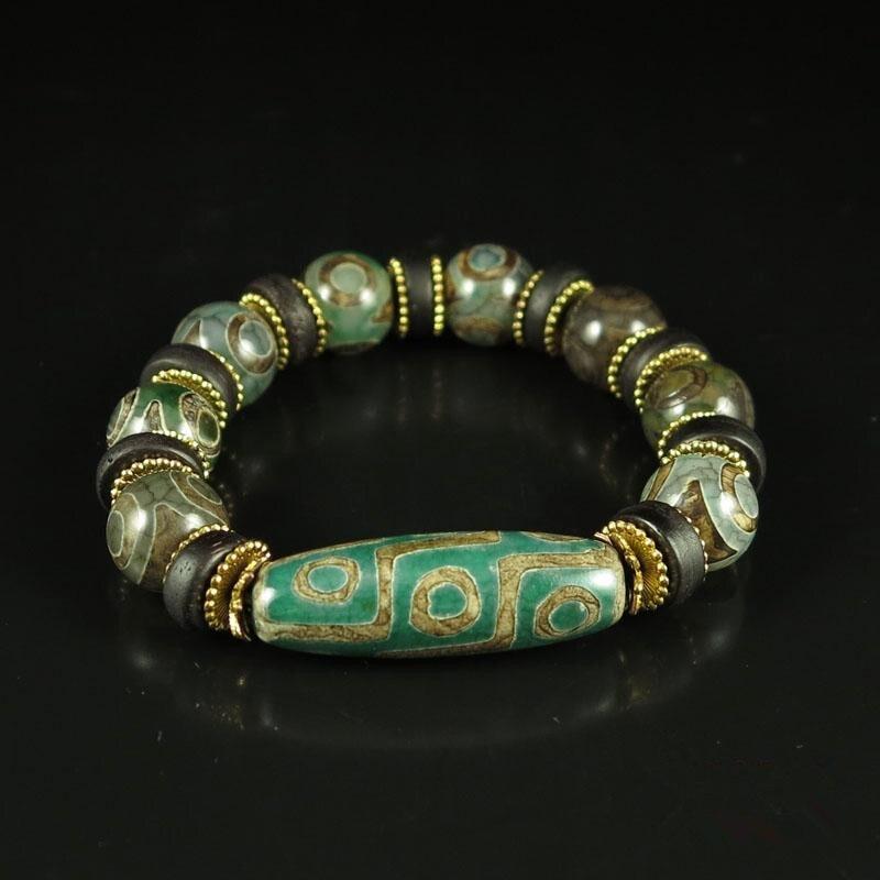 Chinois Style Tibétain Bouddhiste Prière Perles Carve Tibet Tianzhu Perles Mala Bouddha Bracelet Chapelet Bracelet Bijoux De Mode