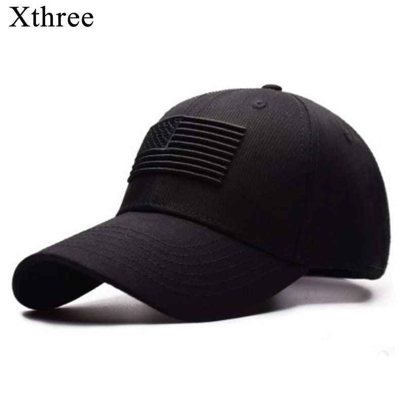 Xthree High Quality USA Flag   Baseball     Cap   Men Women Eagle Snapback Dad Hat Bone Casual Sun Hat Trucker Snapback   Cap   Gorras